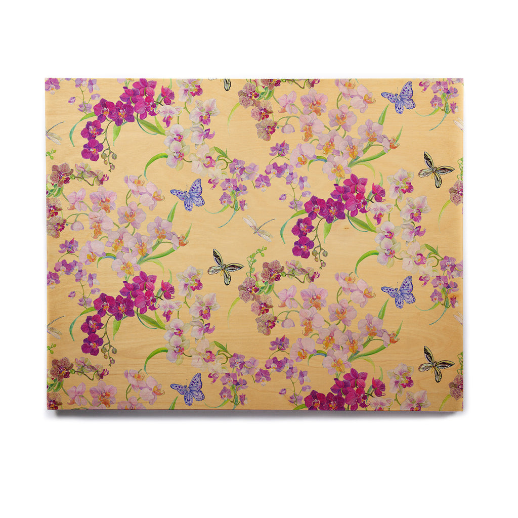 Orchid Chinoiserie Birchwood by Kimberly McSparran | KESS InHouse