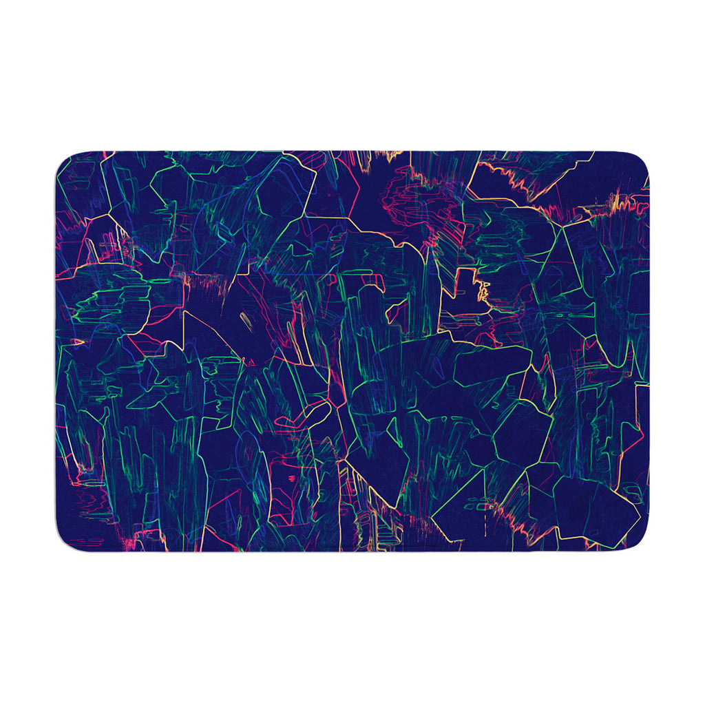"Kathryn Pledger ""Night Life"" Memory Foam Bath Mat - KESS InHouse"