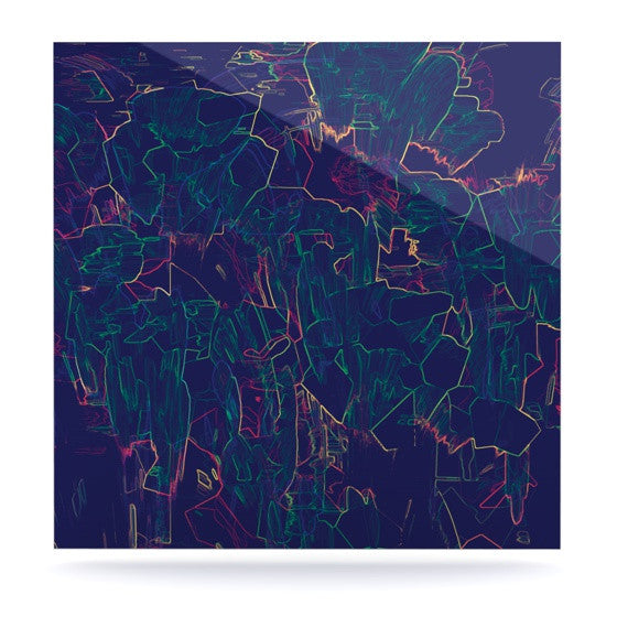 "Kathryn Pledger ""Night Life"" Luxe Square Panel - KESS InHouse  - 1"