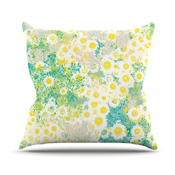 "Kathryn Pledger ""Myatts Meadow"" Throw Pillow - KESS InHouse  - 1"