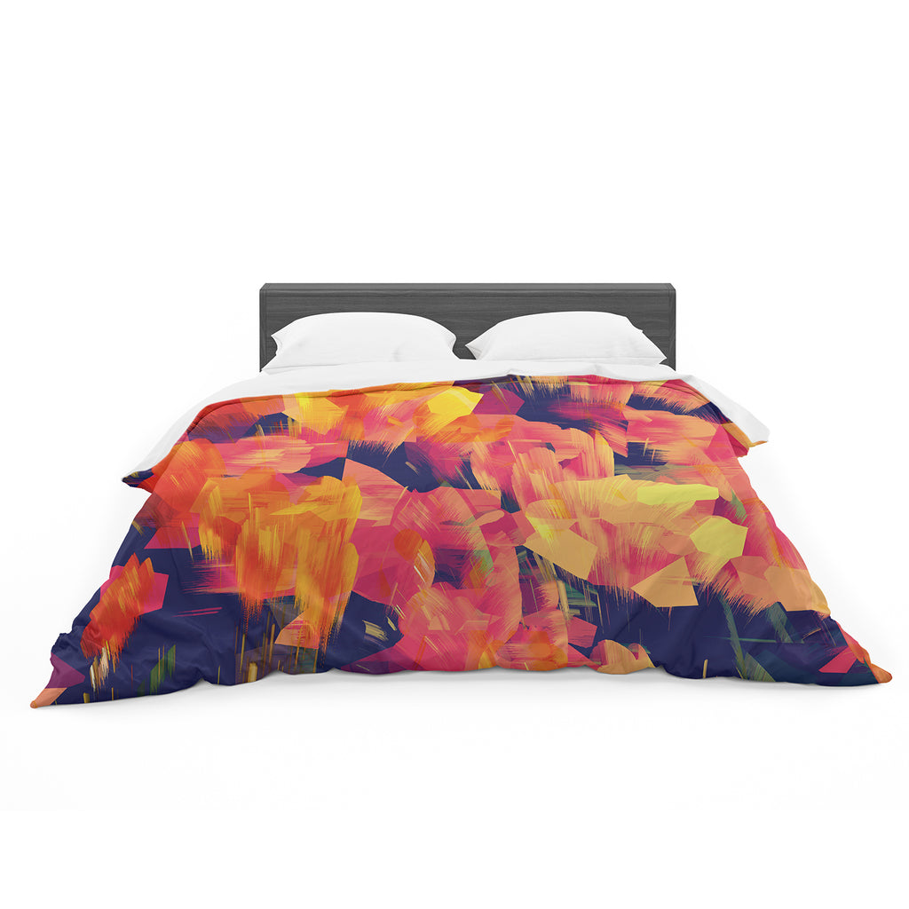 "Kathryn Pledger ""Geo Flower"" Cotton Duvet"
