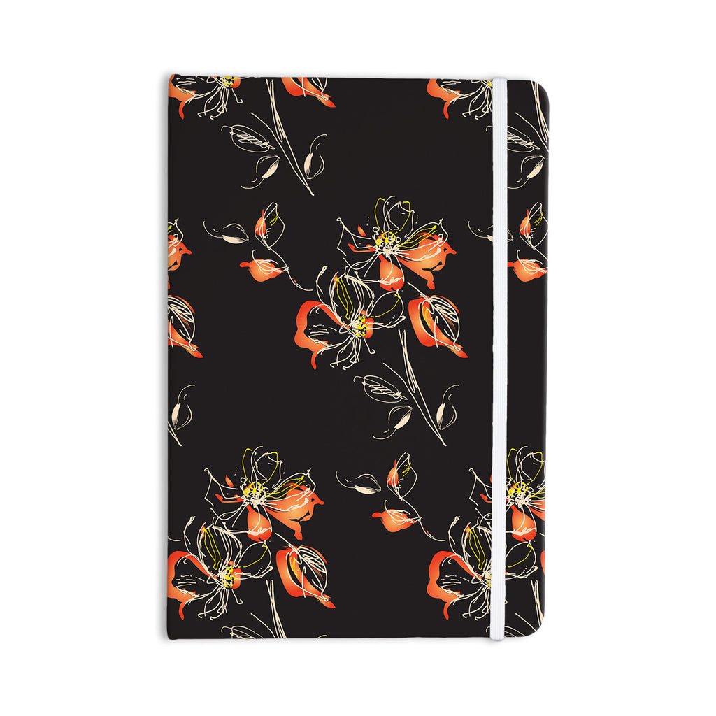 "Louise ""Blackflower"" Black Orange Everything Notebook - KESS InHouse  - 1"