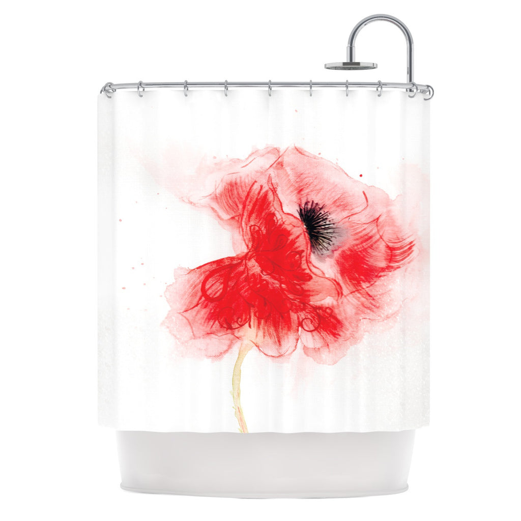 Poppy By Louise Shower Curtain