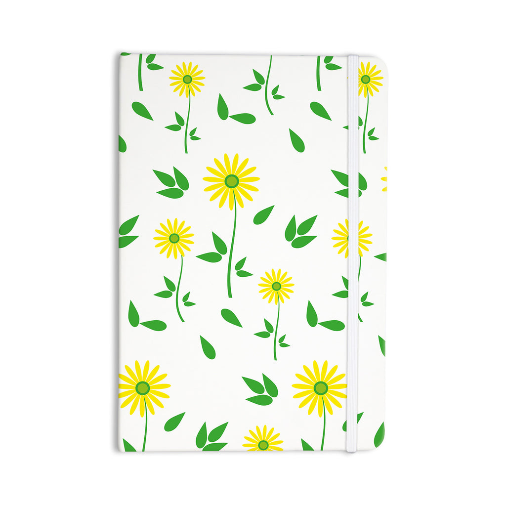 "Louise ""Daisy"" Yellow Green Everything Notebook - KESS InHouse  - 1"