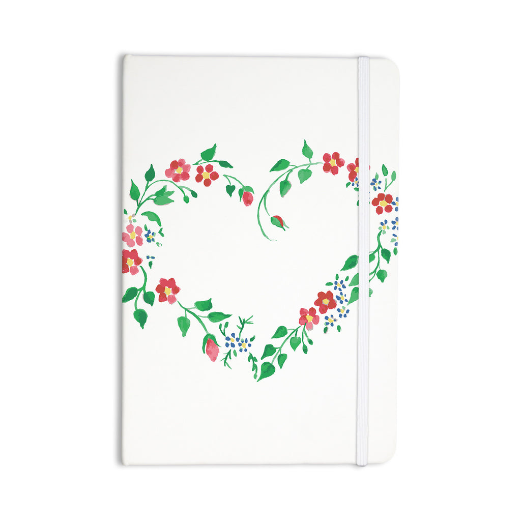 "Louise ""Heart"" Green Pink Everything Notebook - KESS InHouse  - 1"