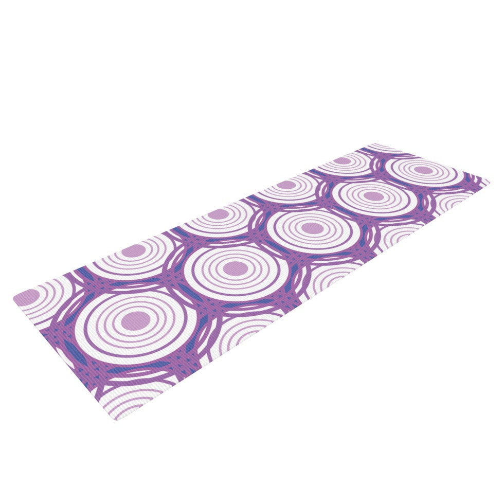 "Louise ""Labyrinth"" Purple Yoga Mat - KESS InHouse  - 1"
