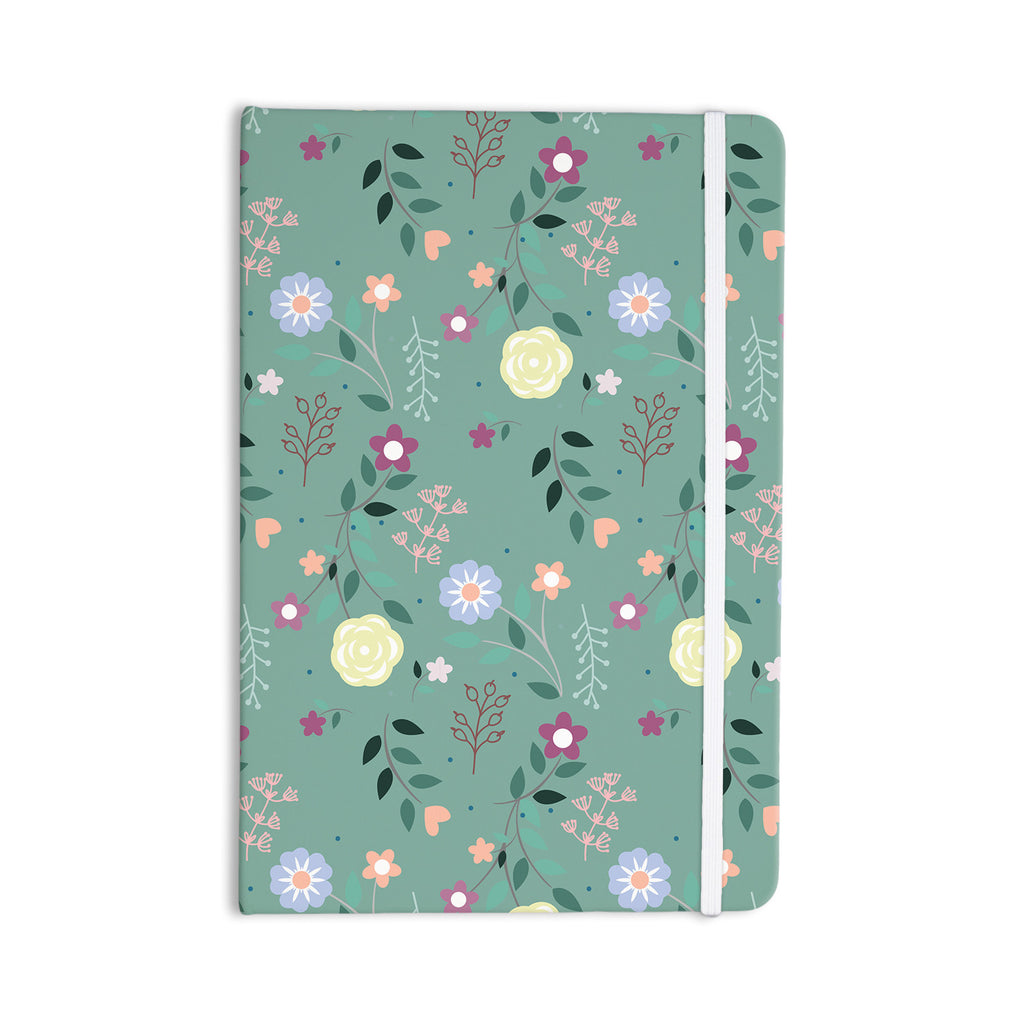 "Louise ""Flora"" Flowers Green Everything Notebook - KESS InHouse  - 1"