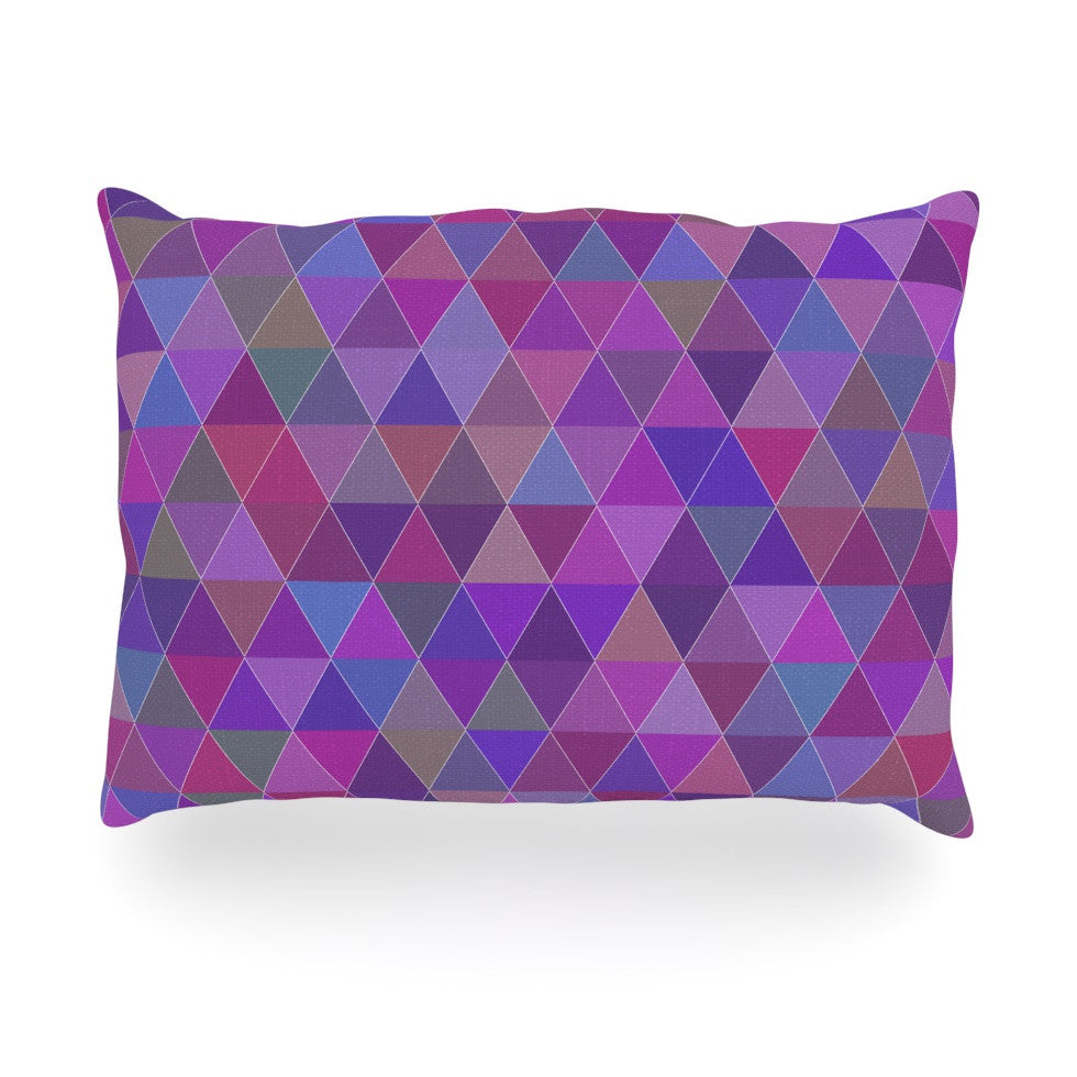 "Louise ""Abstract"" Purple Oblong Pillow - KESS InHouse"
