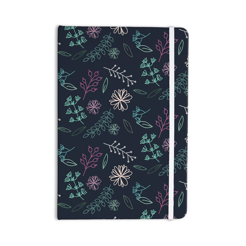 "Louise ""Flower III"" Blue Teal Everything Notebook - KESS InHouse  - 1"