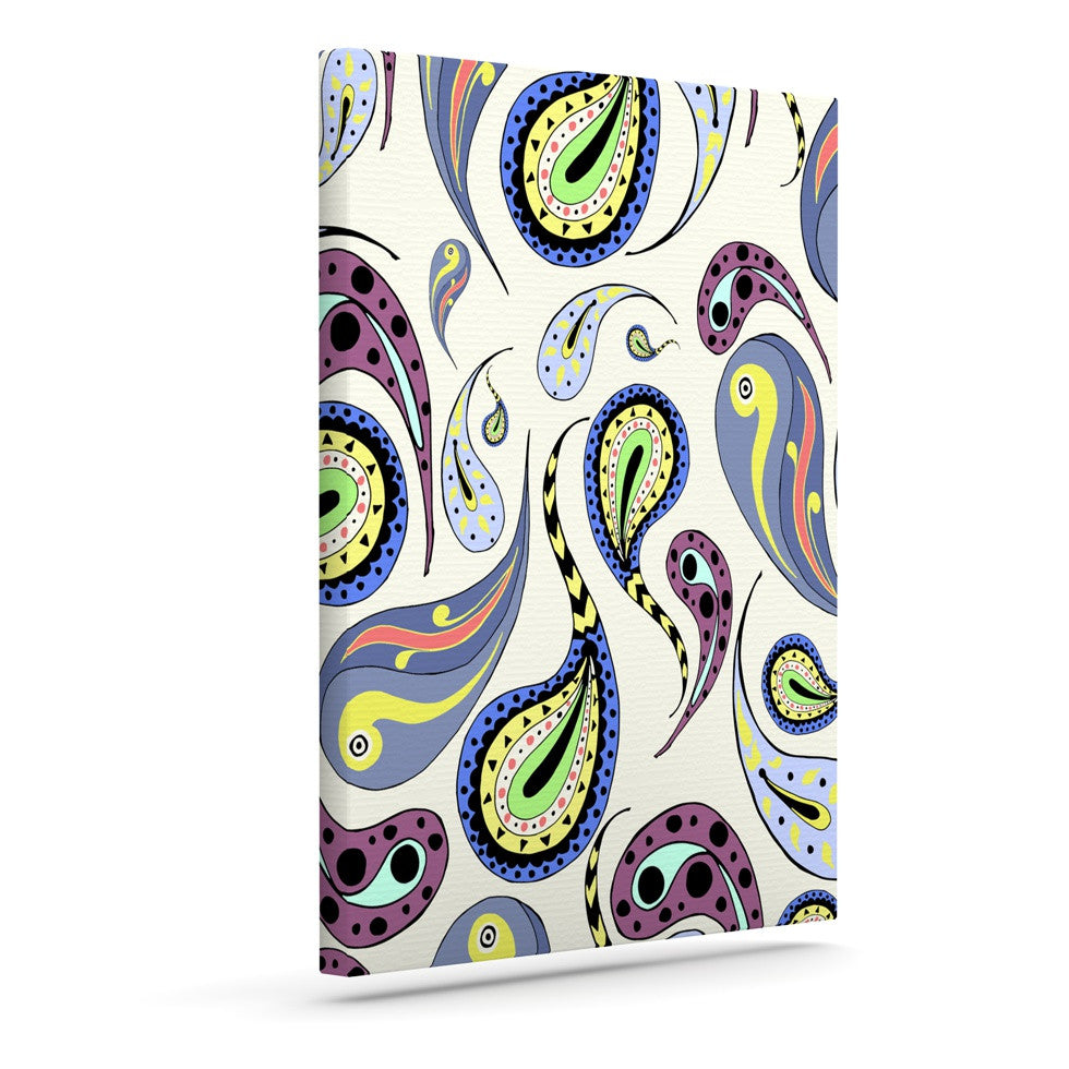 "Louise ""Pattern II"" Multicolor Pattern Canvas Art - KESS InHouse  - 1"