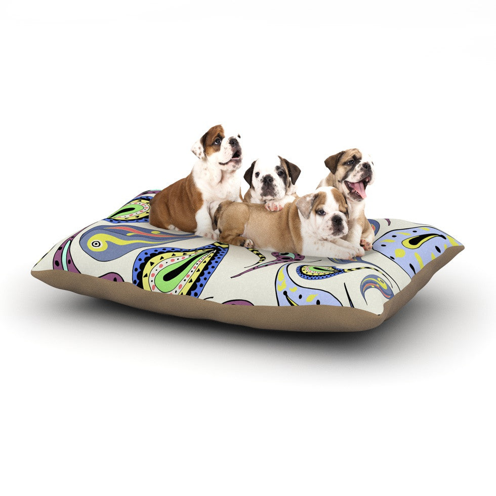 "Louise ""Pattern II"" Multicolor Pattern Dog Bed - KESS InHouse  - 1"