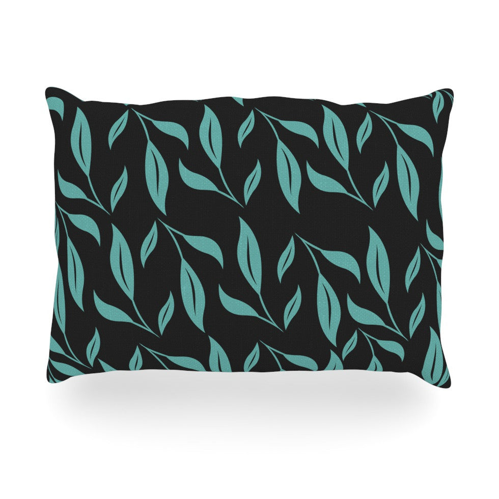 "Louise ""Unnamed"" Blue Black Oblong Pillow - KESS InHouse"