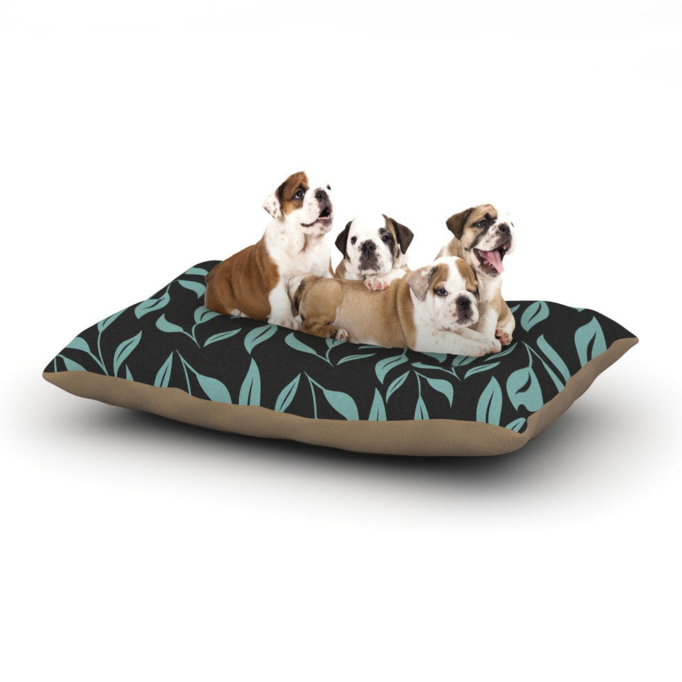 "Louise ""Unnamed"" Blue Black Dog Bed - KESS InHouse  - 1"