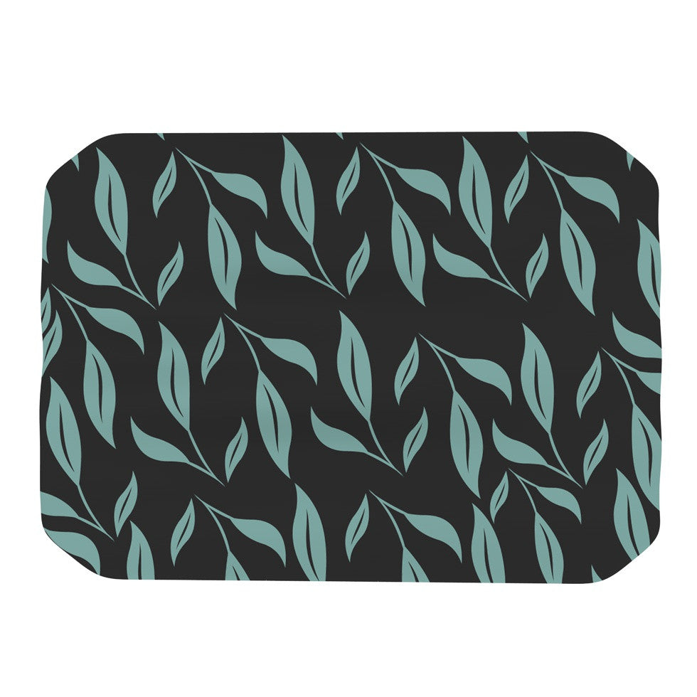 "Louise ""Unnamed"" Blue Black Place Mat - KESS InHouse"