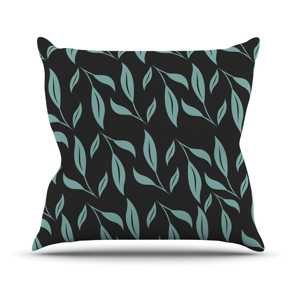 "Louise ""Unnamed"" Blue Black Outdoor Throw Pillow - KESS InHouse  - 1"