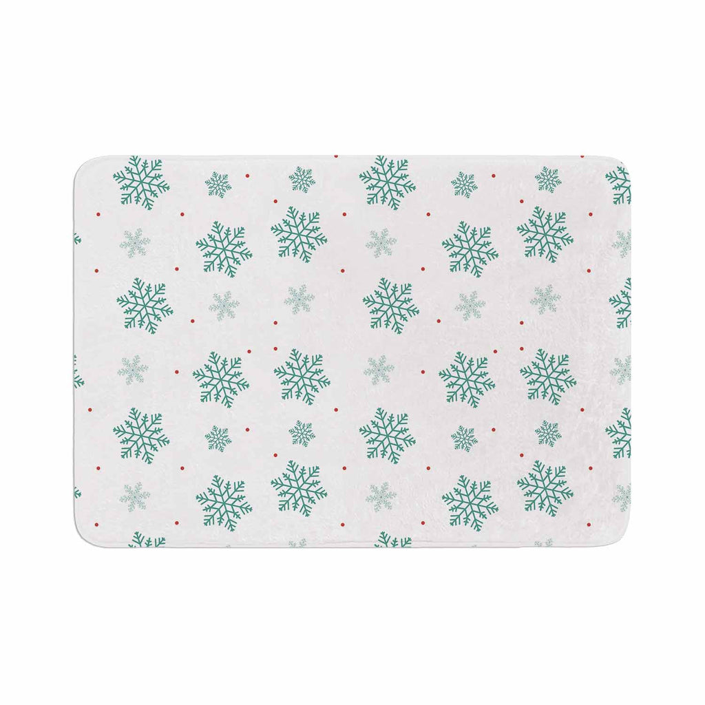"Louise ""Snow"" Pastel White Memory Foam Bath Mat - KESS InHouse"