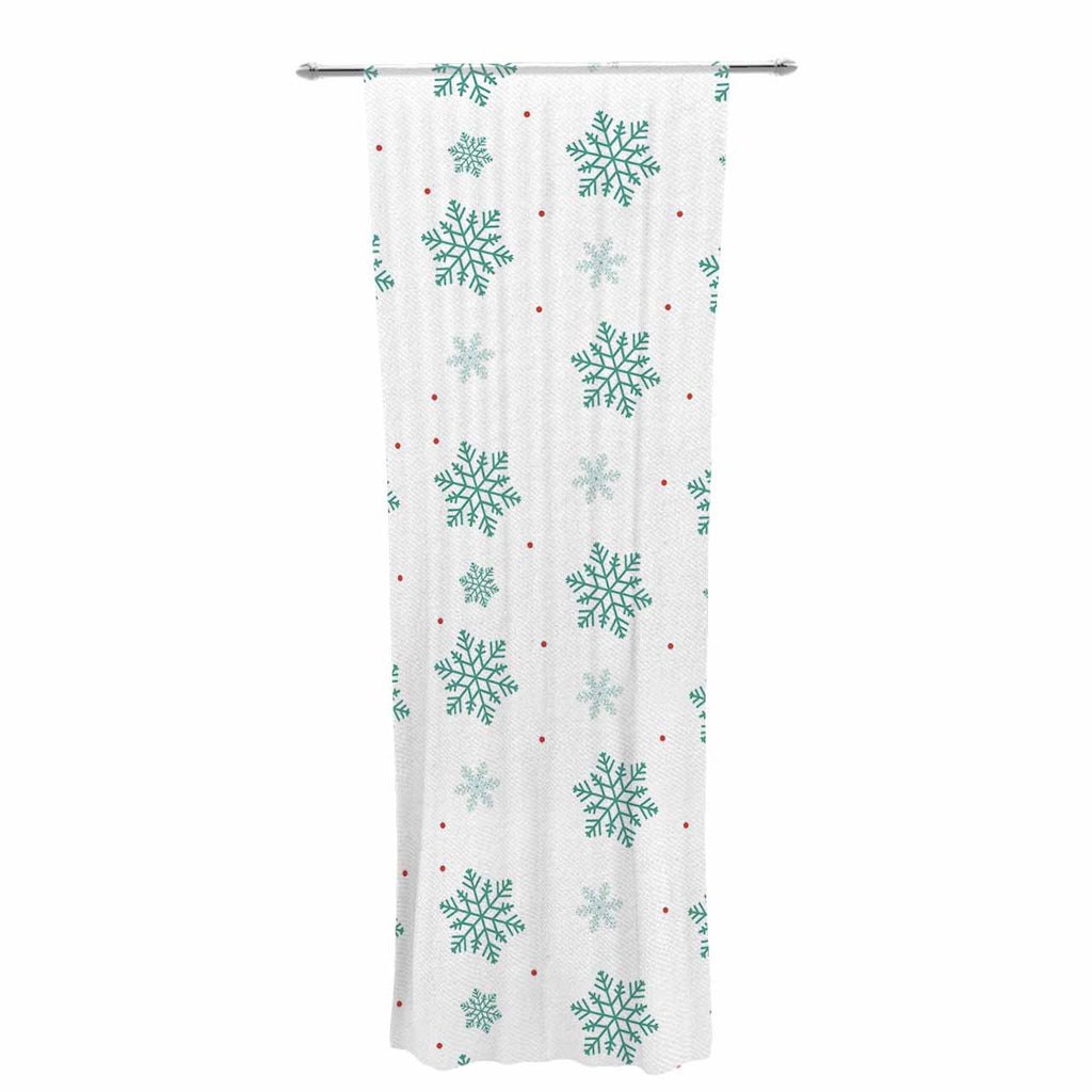 "Louise ""Snow"" Pastel White Decorative Sheer Curtain - KESS InHouse  - 1"