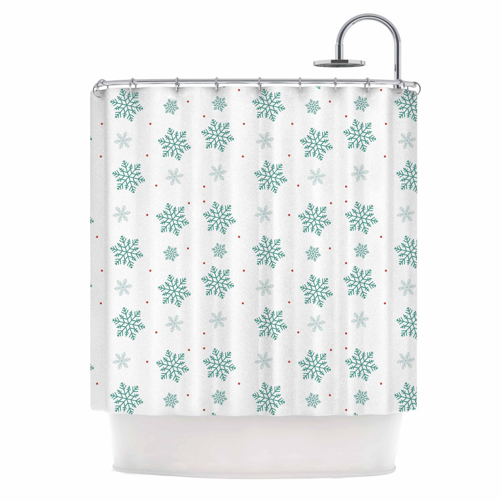 "Louise ""Snow"" Pastel White Shower Curtain - KESS InHouse"