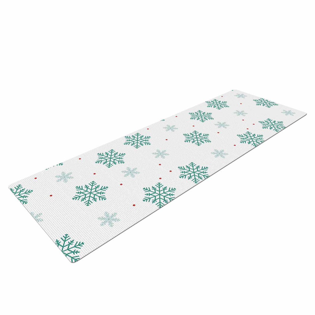 "Louise ""Snow"" Pastel White Yoga Mat - KESS InHouse  - 1"