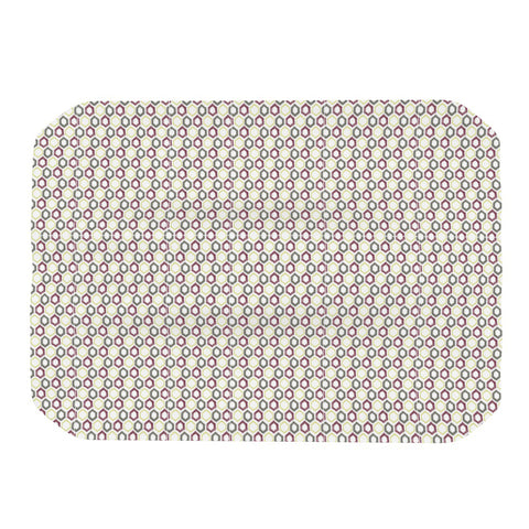 "Laurie Baars ""Hexy Small"" Purple Geometric Place Mat - Outlet Item"