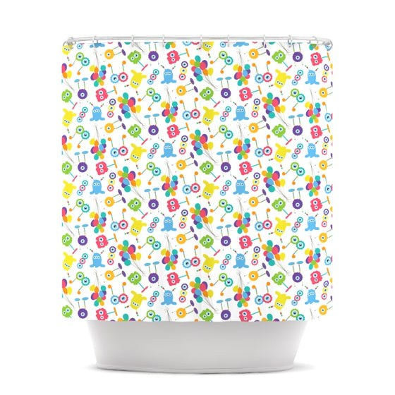 "Laura Escalante ""Fun Creatures"" Shower Curtain - KESS InHouse"