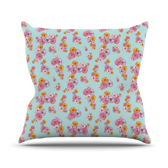 "Laura Escalante ""Paper Flower"" Throw Pillow - KESS InHouse  - 1"