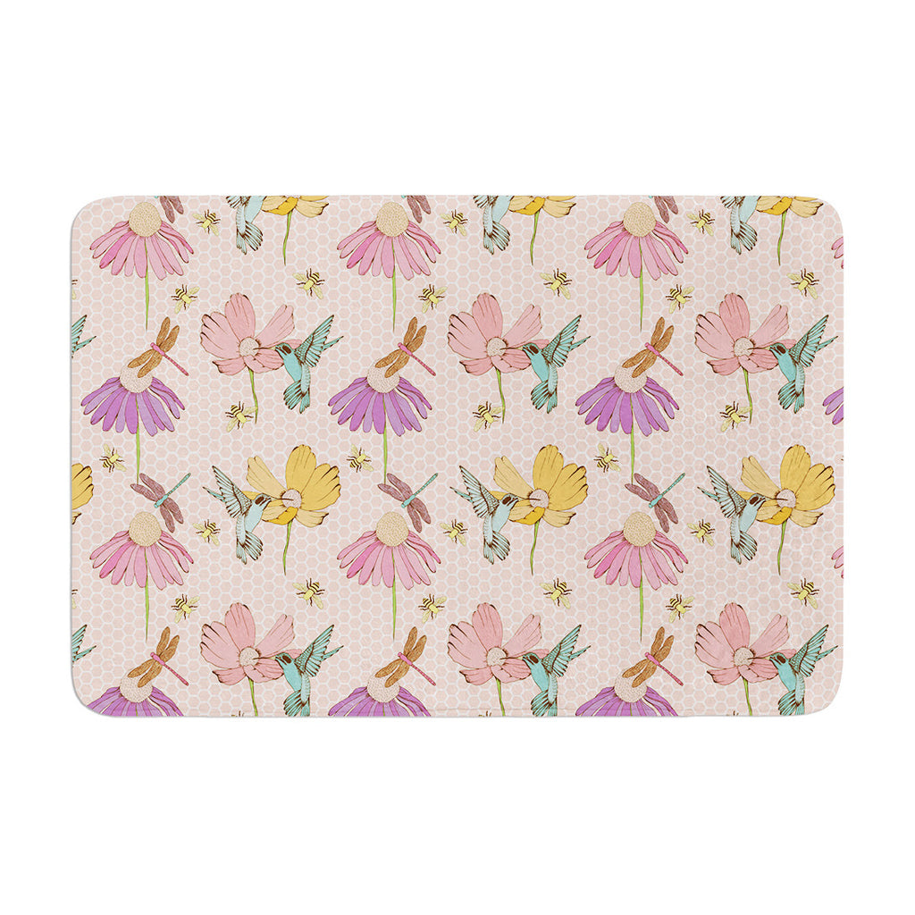 "Laura Escalante ""Magic Garden"" Memory Foam Bath Mat - KESS InHouse"
