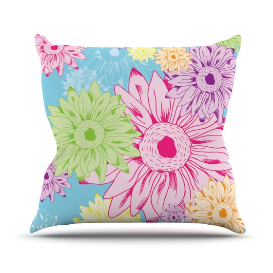 "Laura Escalante ""Summer Time"" Throw Pillow - KESS InHouse  - 1"