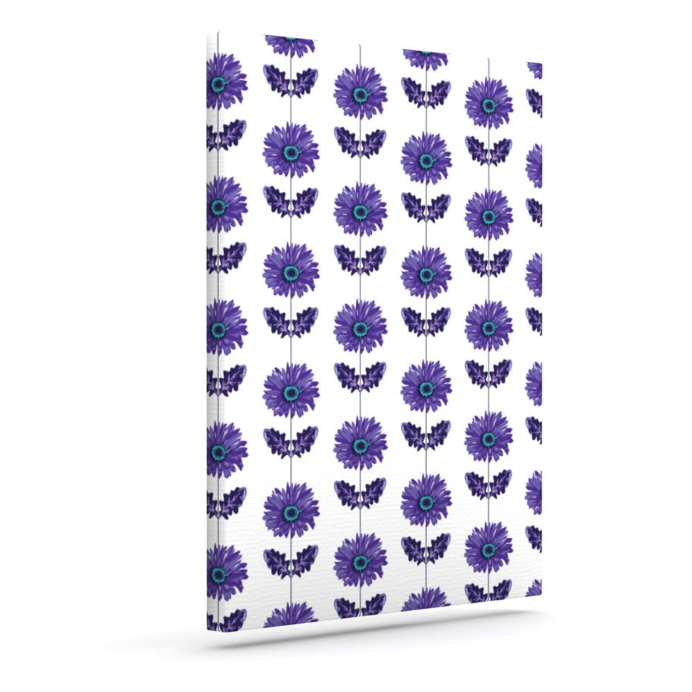 "Laura Escalante ""Purple Gerbera"" Lavender Flower Outdoor Canvas Wall Art - KESS InHouse  - 1"