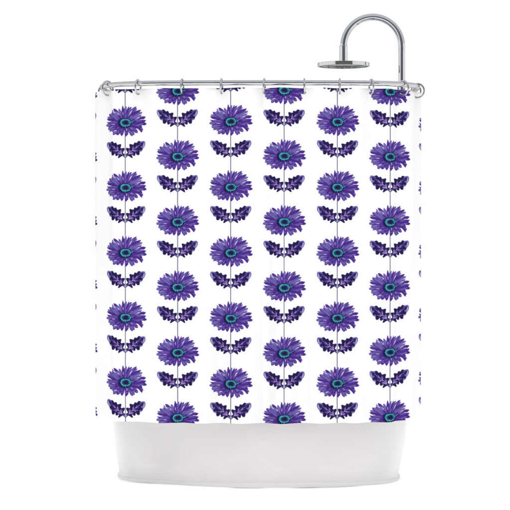 "Laura Escalante ""Purple Gerbera"" Lavender Flower Shower Curtain - KESS InHouse"