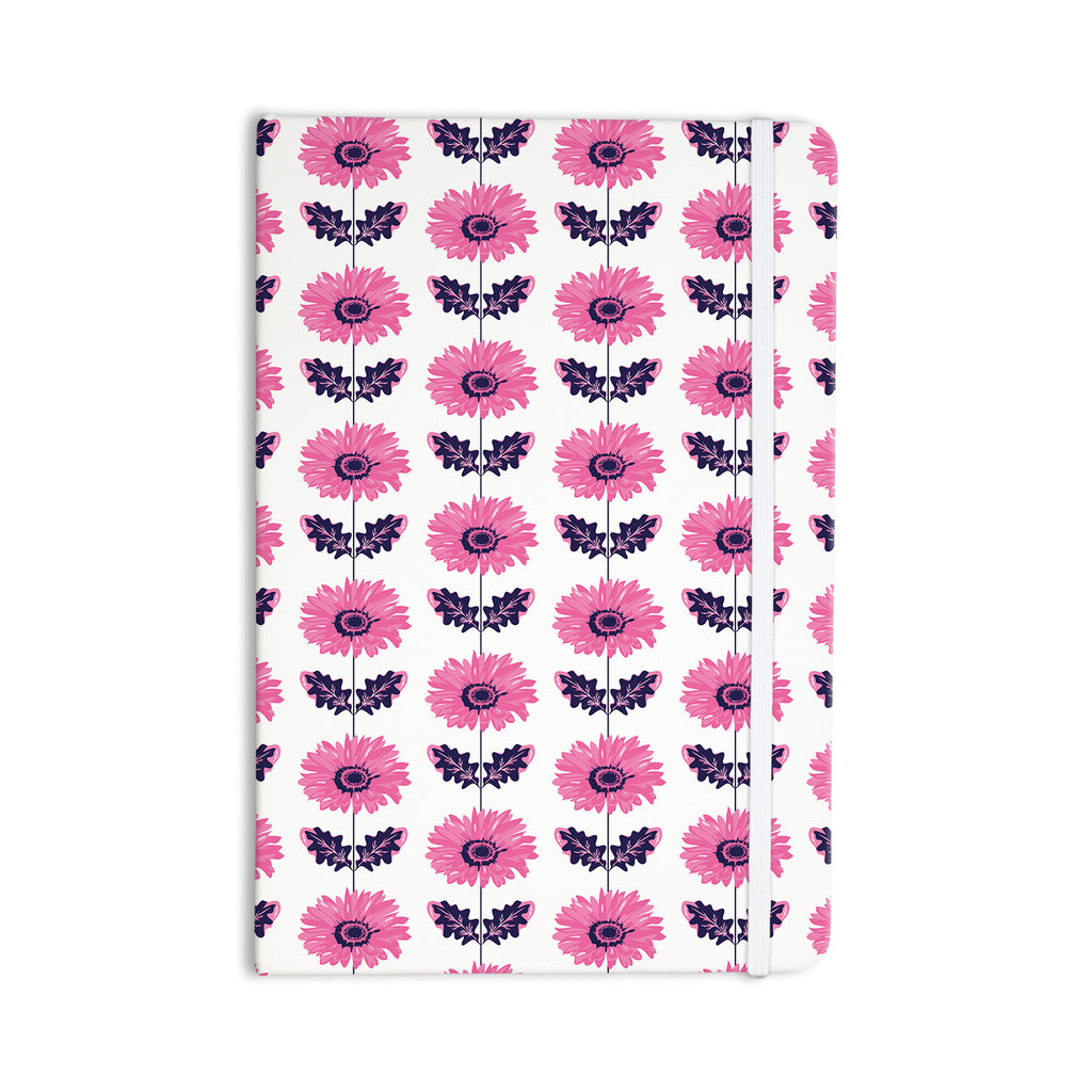 "Laura Escalante ""Pink Gerbera"" Purple Flower Everything Notebook - KESS InHouse  - 1"