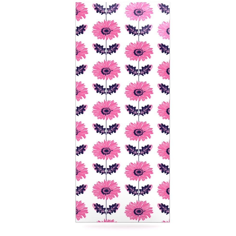 "Laura Escalante ""Pink Gerbera"" Purple Flower Luxe Rectangle Panel - KESS InHouse  - 1"