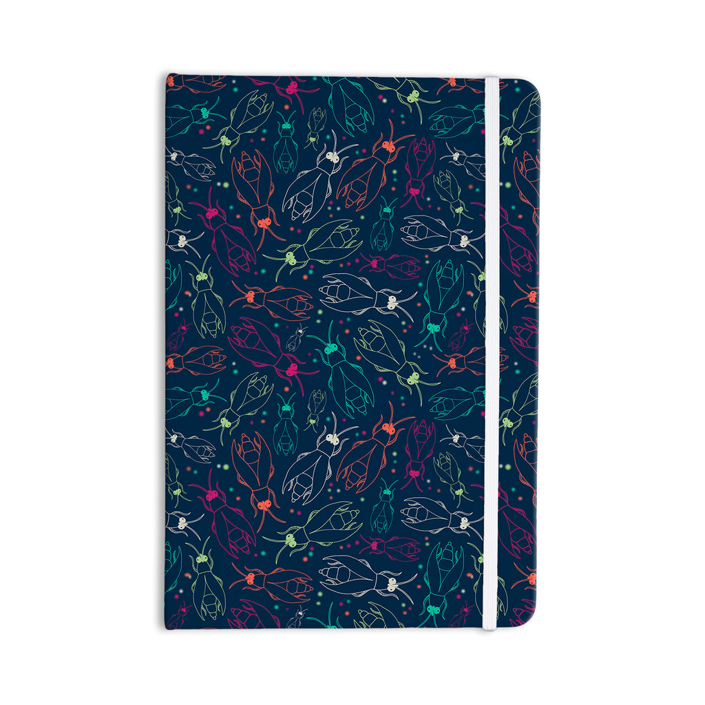 "Laura Escalante ""Fireflies Midnight Garden"" Dark Blue Everything Notebook - KESS InHouse  - 1"