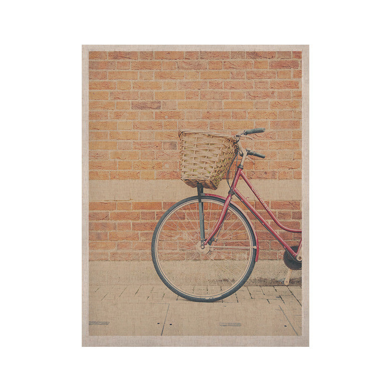 "Laura Evans ""A Red Bicycle"" Orange Brown KESS Naturals Canvas (Frame not Included) - KESS InHouse  - 1"