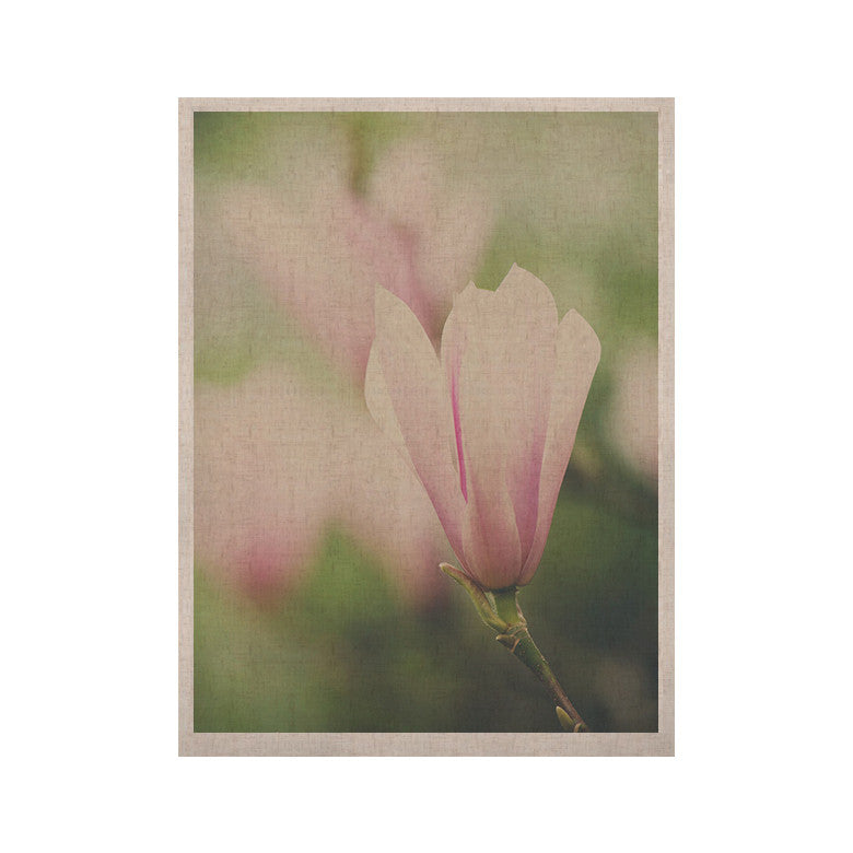 "Laura Evans ""A Pink Magnolia"" Pink Green KESS Naturals Canvas (Frame not Included) - KESS InHouse  - 1"
