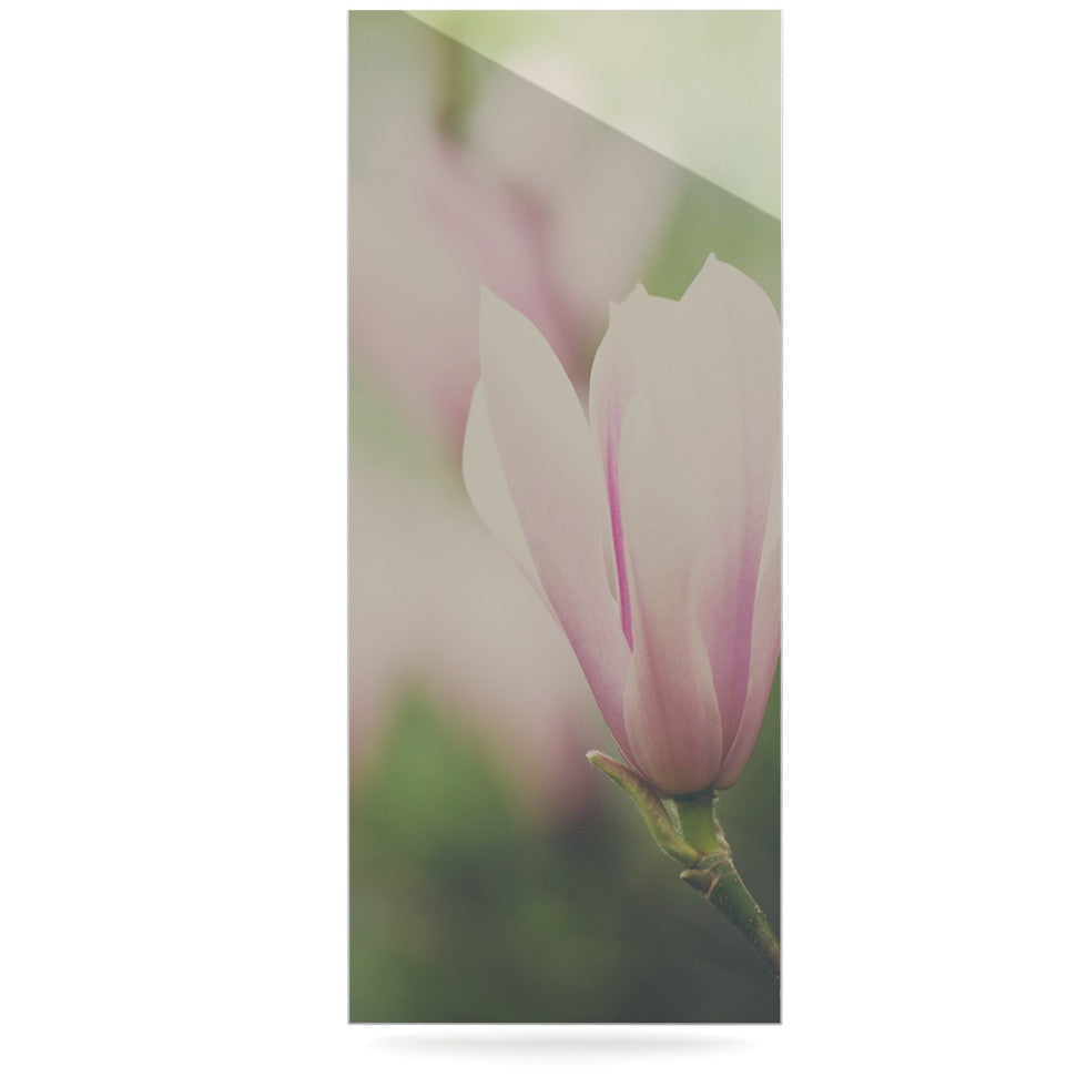 "Laura Evans ""A Pink Magnolia"" Pink Green Luxe Rectangle Panel - KESS InHouse  - 1"
