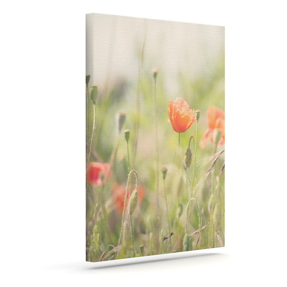 "Laura Evans ""Fields of Remembrance"" Green Orange Canvas Art - KESS InHouse  - 1"