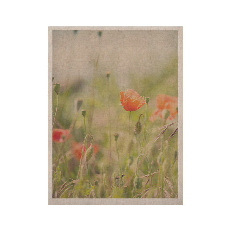 "Laura Evans ""Fields of Remembrance"" Green Orange KESS Naturals Canvas (Frame not Included) - KESS InHouse  - 1"