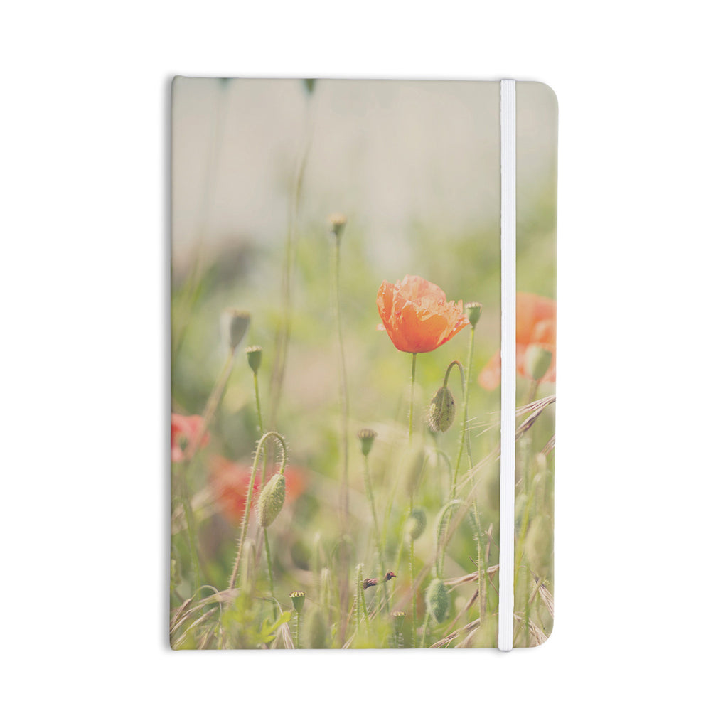 "Laura Evans ""Fields of Remembrance"" Green Orange Everything Notebook - KESS InHouse  - 1"