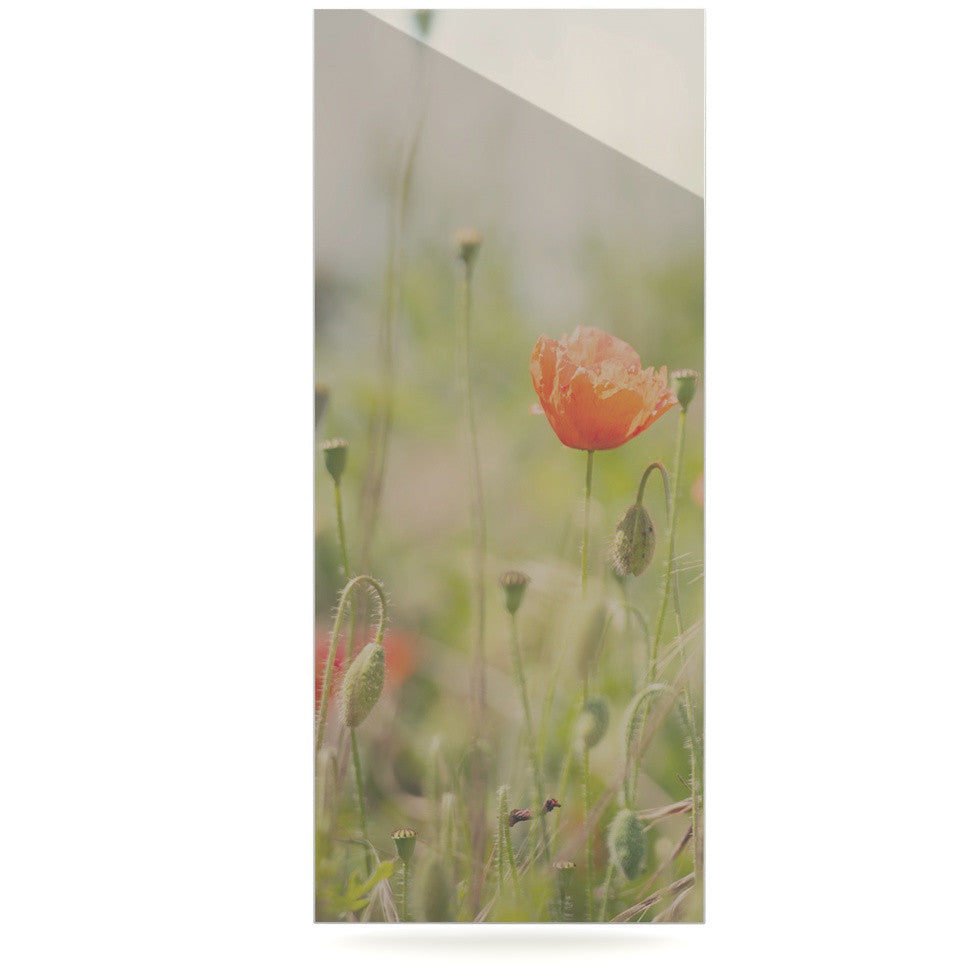 "Laura Evans ""Fields of Remembrance"" Green Orange Luxe Rectangle Panel - KESS InHouse  - 1"