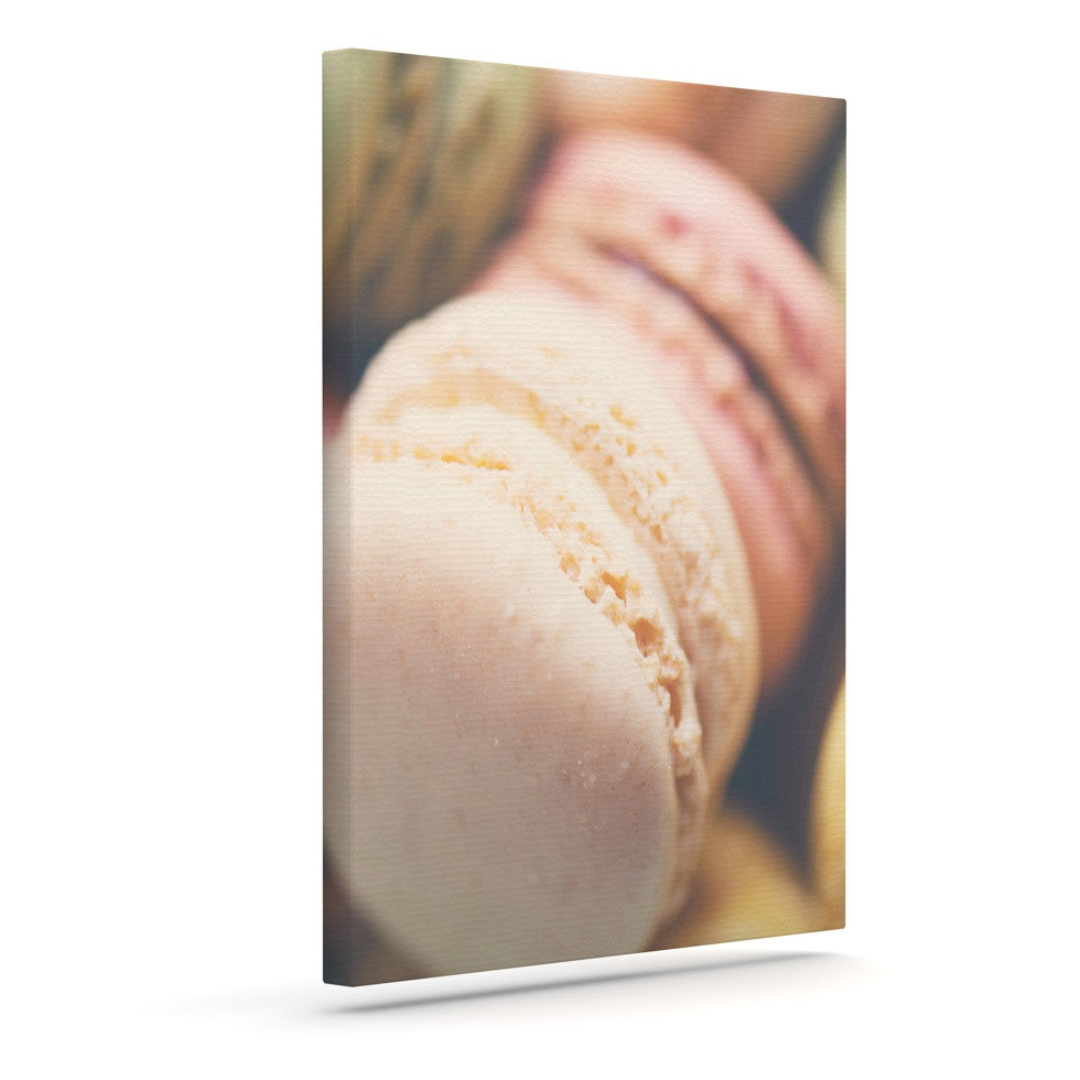 "Laura Evans ""Macaroon Goodness"" Pastel Food Canvas Art - KESS InHouse  - 1"