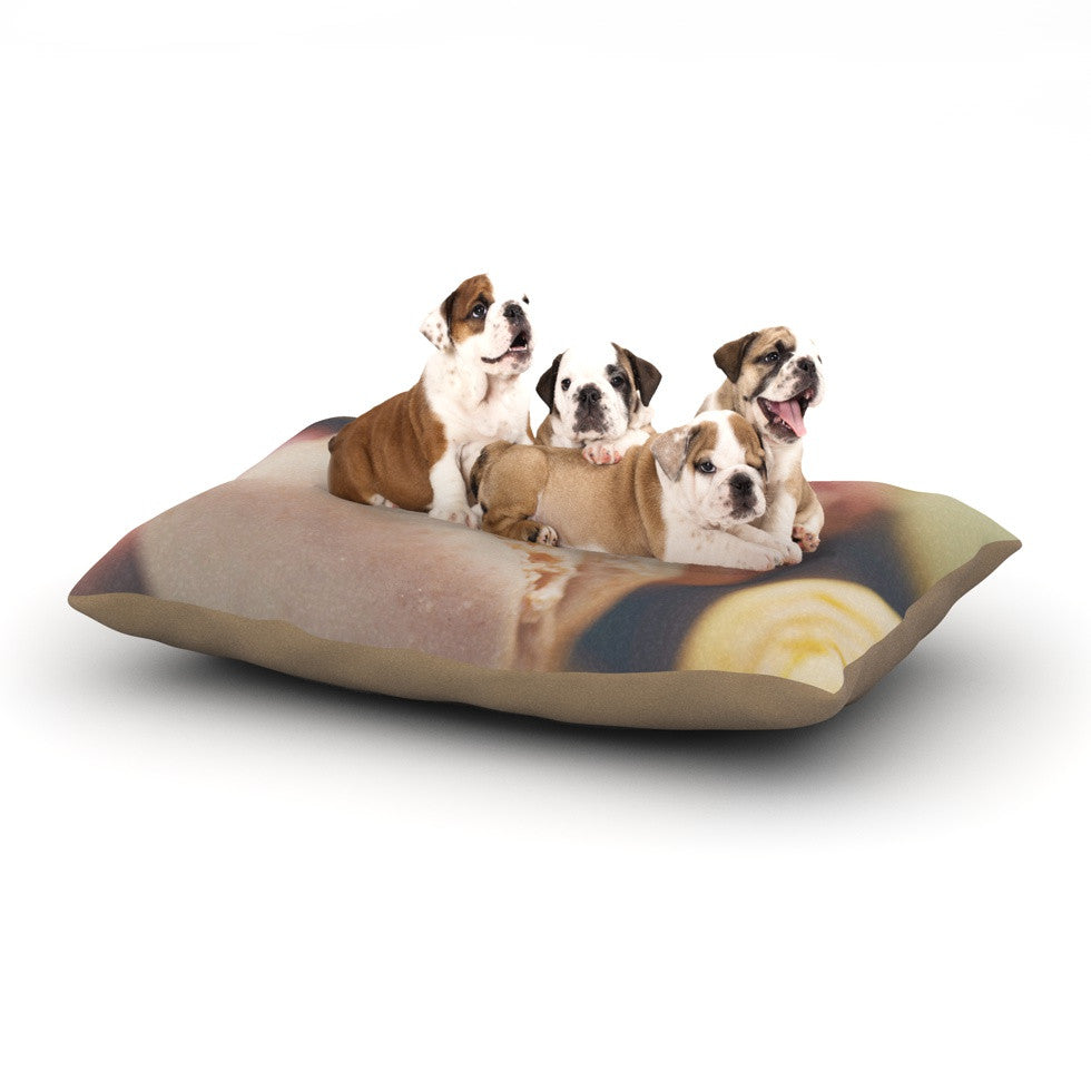 "Laura Evans ""Macaroon Goodness"" Pastel Food Dog Bed - KESS InHouse  - 1"