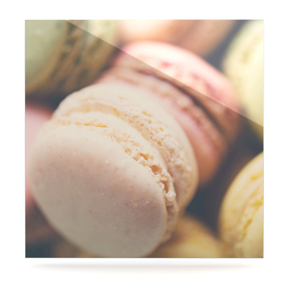 "Laura Evans ""Macaroon Goodness"" Pastel Food Luxe Square Panel - KESS InHouse  - 1"