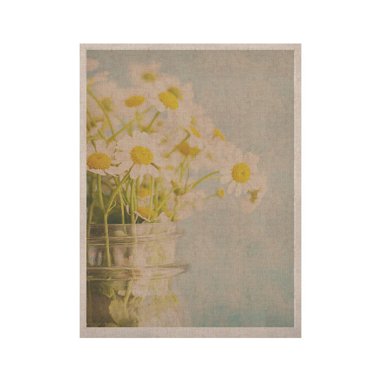 "Laura Evans ""O Daisy"" Green Yellow KESS Naturals Canvas (Frame not Included) - KESS InHouse  - 1"