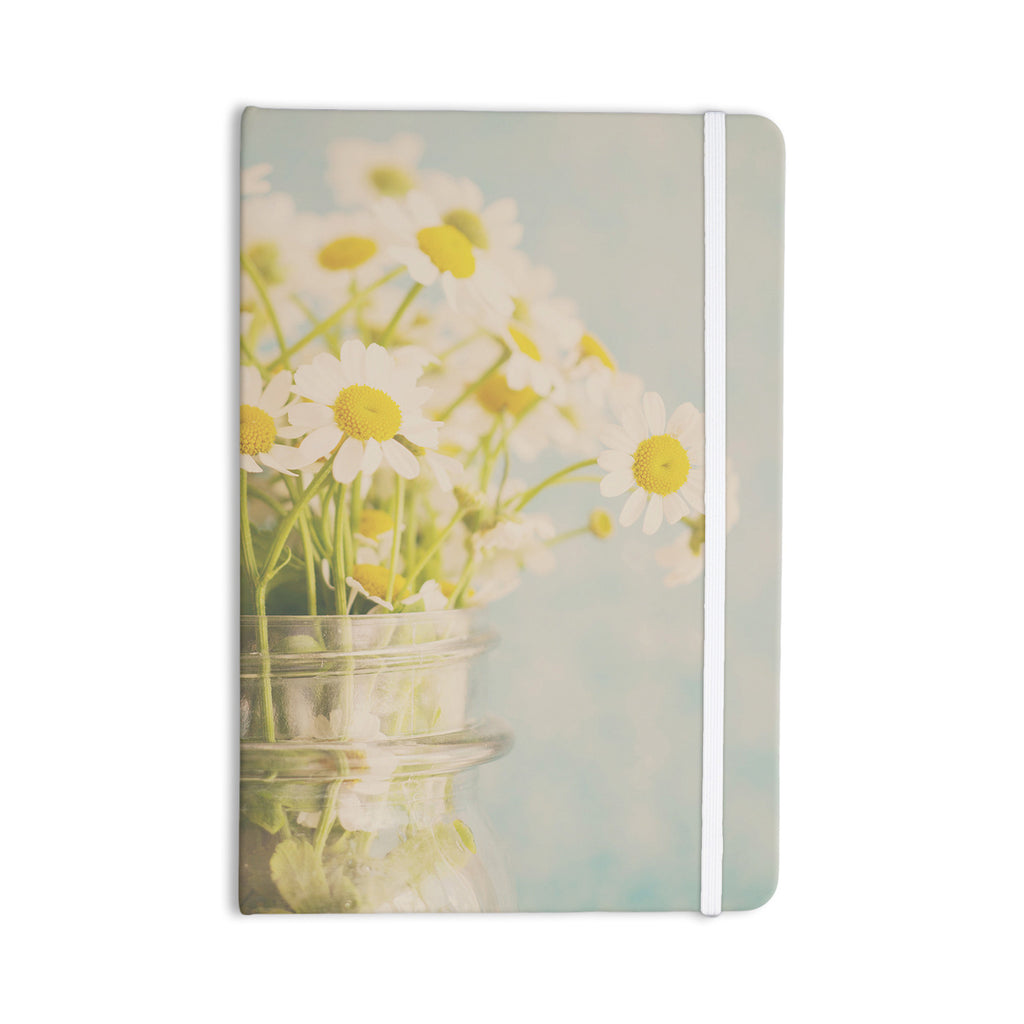 "Laura Evans ""O Daisy"" Green Yellow Everything Notebook - KESS InHouse  - 1"