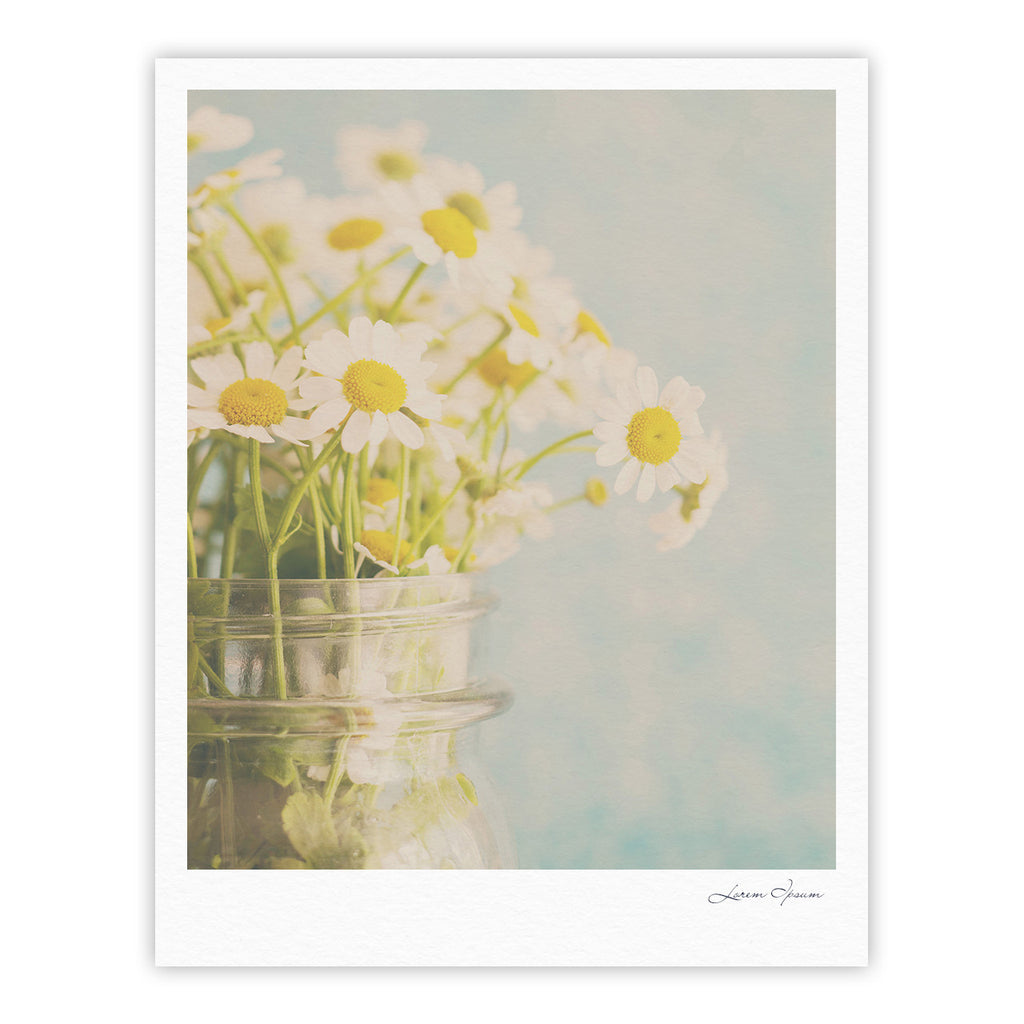 "Laura Evans ""O Daisy"" Green Yellow Fine Art Gallery Print - KESS InHouse"