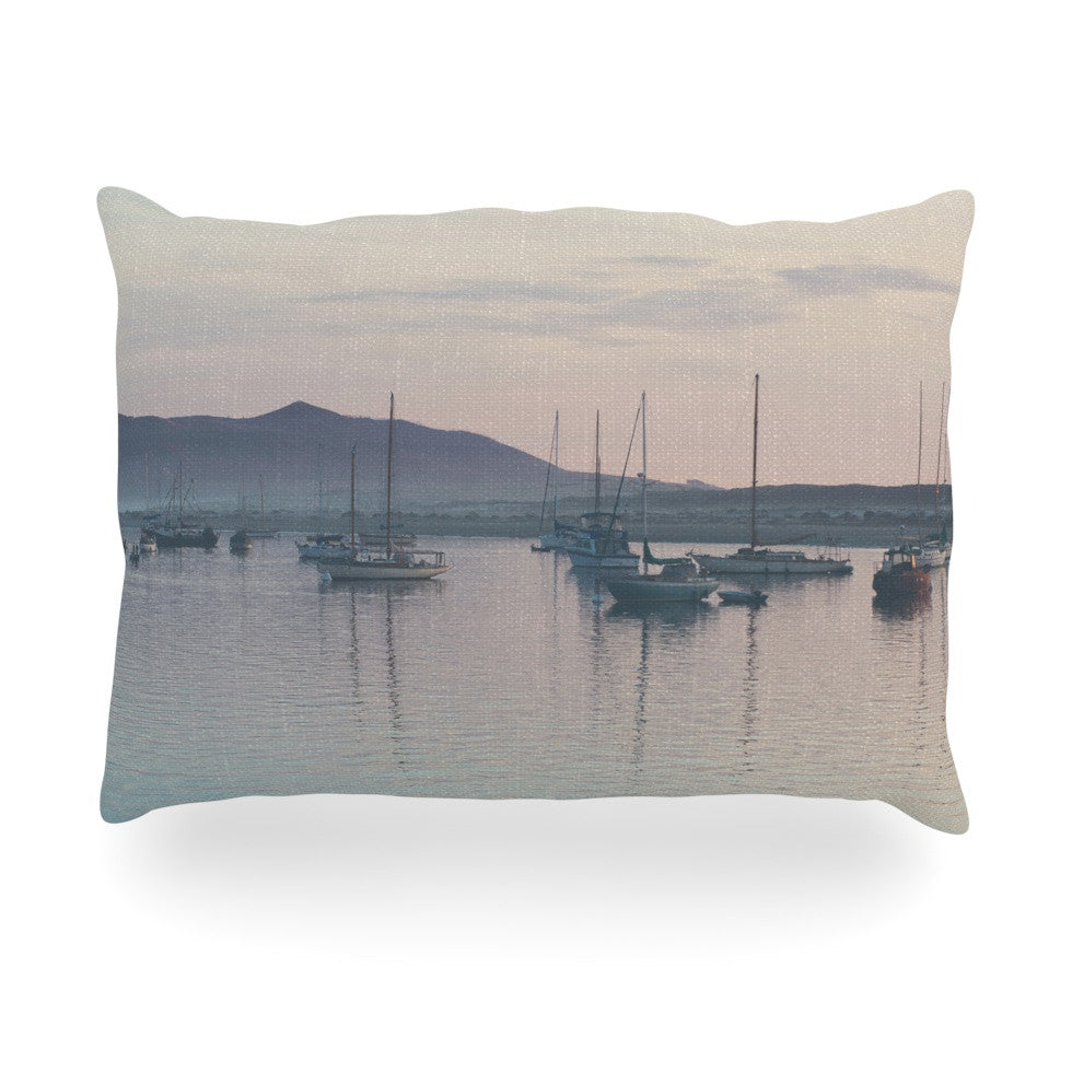 "Laura Evans ""As the Sun Goes Down"" Gray Pastel Oblong Pillow - KESS InHouse"