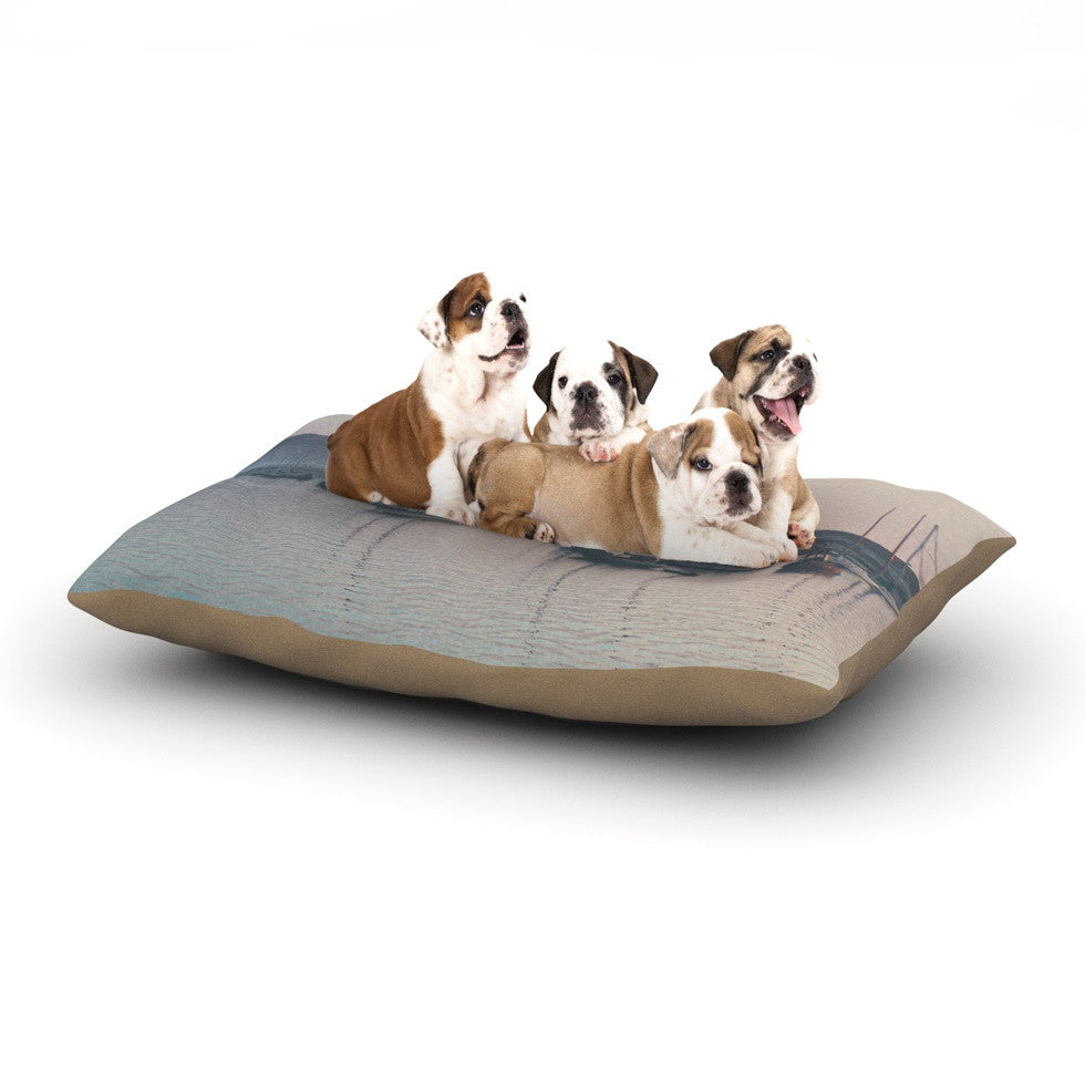 "Laura Evans ""As the Sun Goes Down"" Gray Pastel Dog Bed - KESS InHouse  - 1"