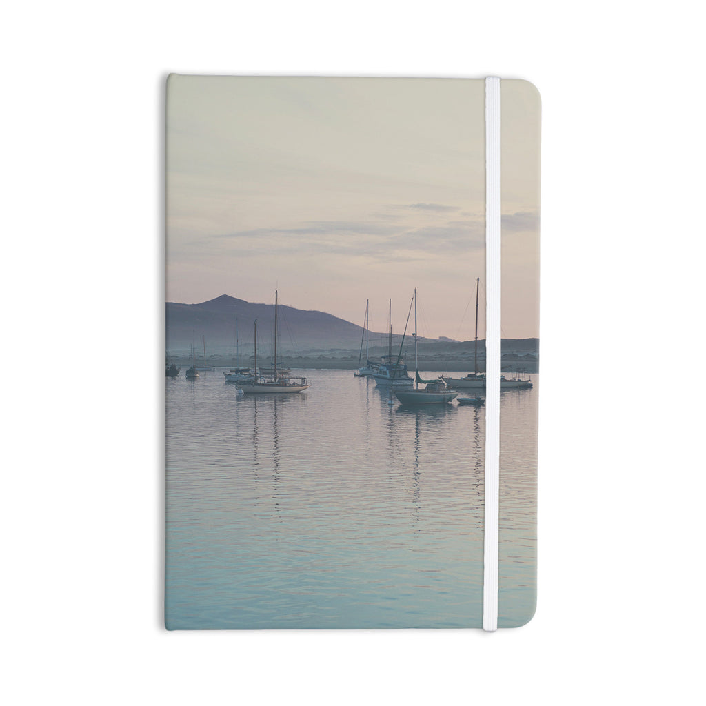 "Laura Evans ""As the Sun Goes Down"" Gray Pastel Everything Notebook - KESS InHouse  - 1"