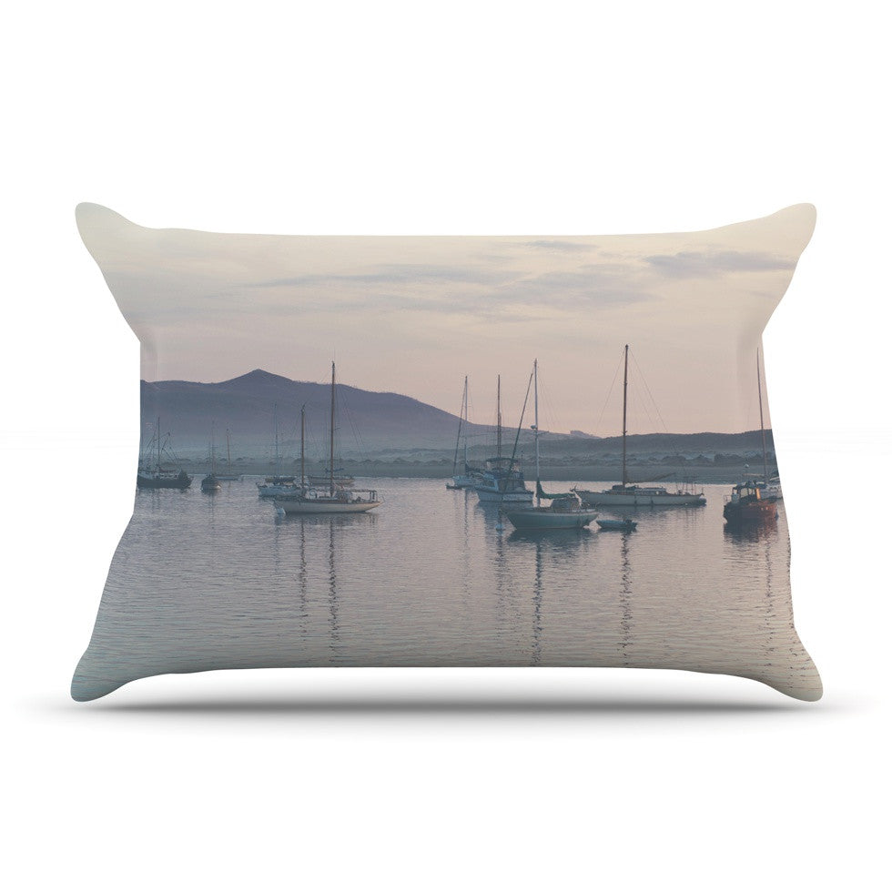 "Laura Evans ""As the Sun Goes Down"" Gray Pastel Pillow Sham - KESS InHouse"
